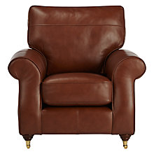 Buy John Lewis Hannah Leather Armchair, Castor Leg Online at johnlewis.com