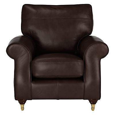 John Lewis Hannah Leather Armchair, Castor Leg