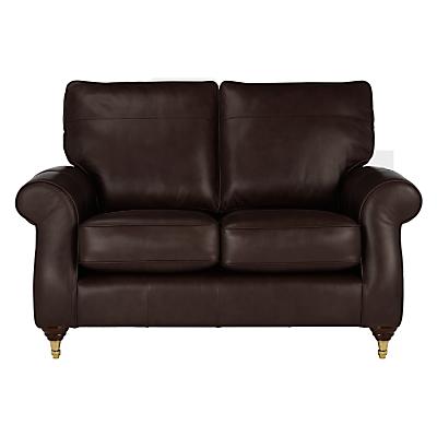 John Lewis Hannah Small 2 Seater Leather Sofa, Castor Leg