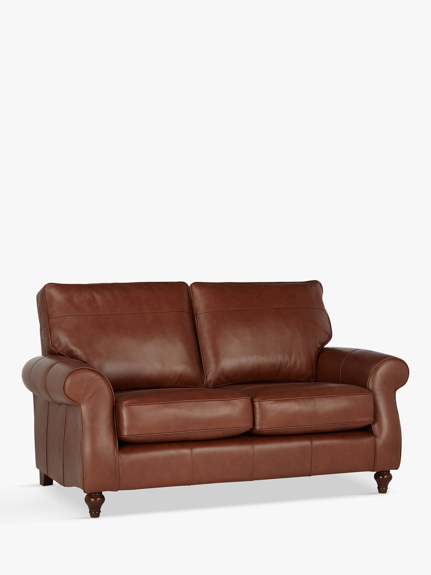 John Lewis Hannah Medium 2 Seater Leather Sofa Dark Leg Contempo Castanga Online At
