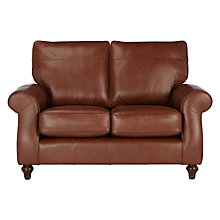 Buy John Lewis Hannah Small 2 Seater Leather Sofa, Dark Leg Online at johnlewis.com
