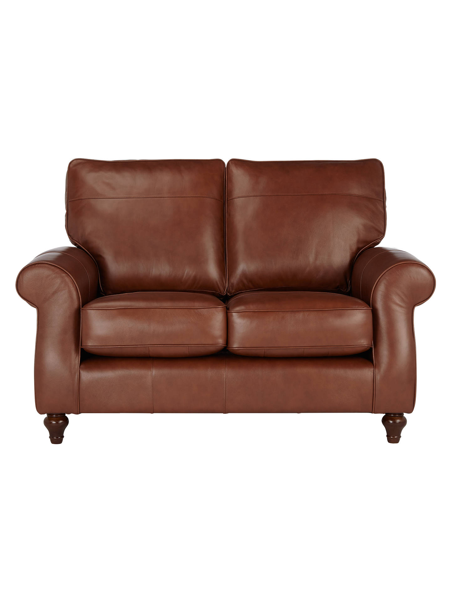 John Lewis Hannah Small 2 Seater Leather Sofa Dark Leg Contempo Castanga Online At