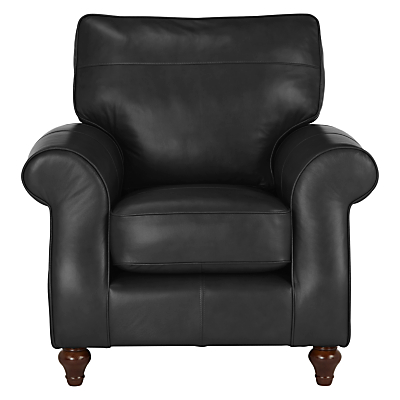 John Lewis Hannah Leather Armchair, Light Leg