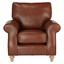 Buy John Lewis Hannah Leather Armchair, Light Leg Online at johnlewis.com