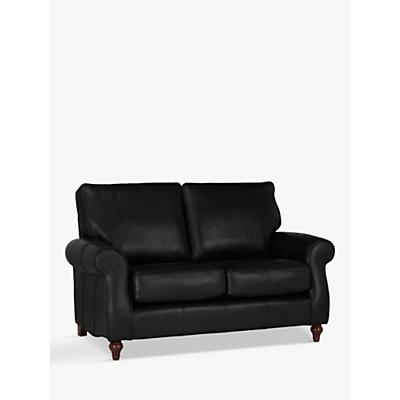 John Lewis Hannah Small 2 Seater Leather Sofa, Dark Leg
