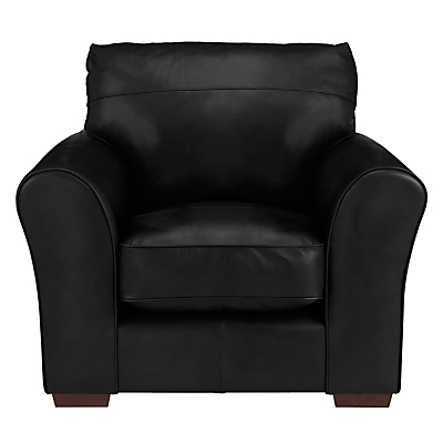 John Lewis Leon Leather Armchair, Dark Leg