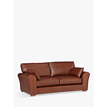 Buy John Lewis Leon Large 3 Seater Leather Sofa, Dark Leg Online at johnlewis.com