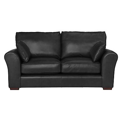John Lewis Leon Medium 2 Seater Leather Sofa, Dark Leg