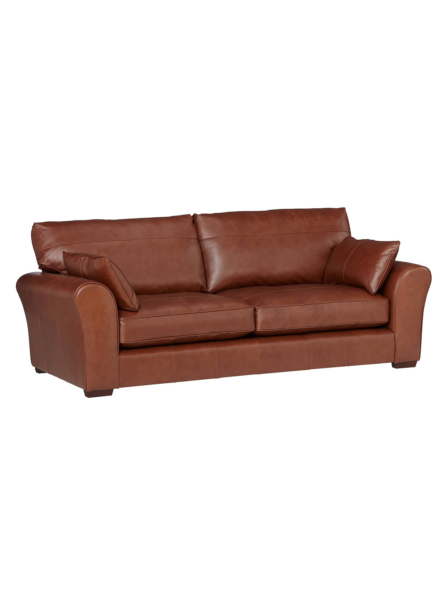 John Lewis Leon Grand 4 Seater Leather Sofa Dark Leg Contempo Castanga Online At