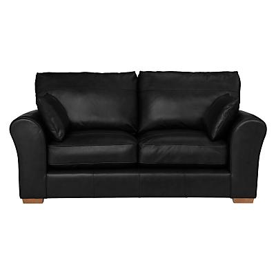 John Lewis Leon Medium 2 Seater Leather Sofa, Light Leg