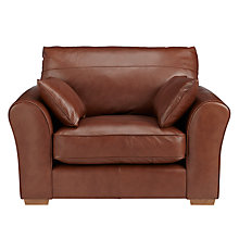Buy John Lewis Leon Leather Snuggler, Light Leg Online at johnlewis.com