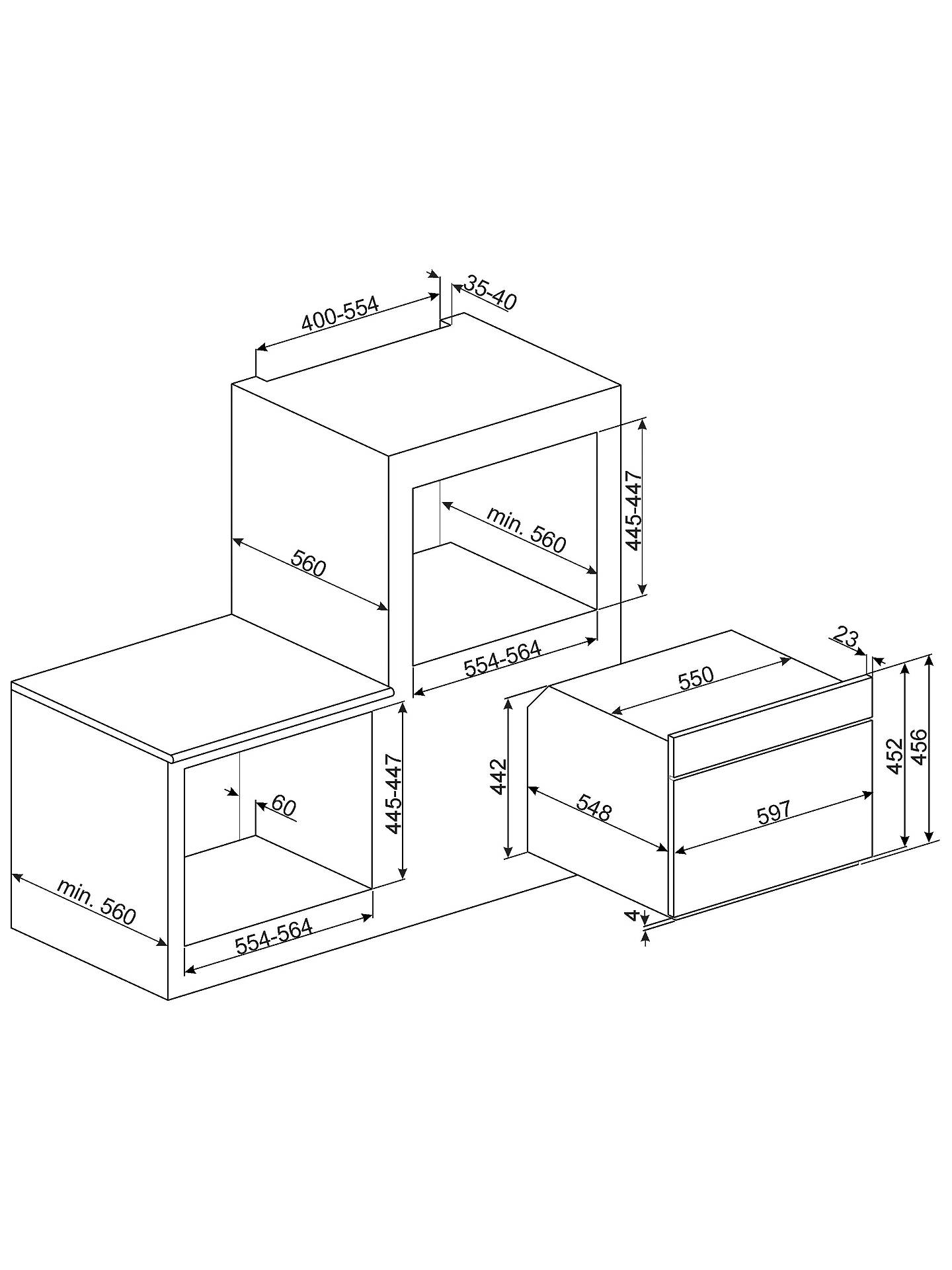 Smeg SF4603MCNX Dolce Stil Novo Integrated Combination