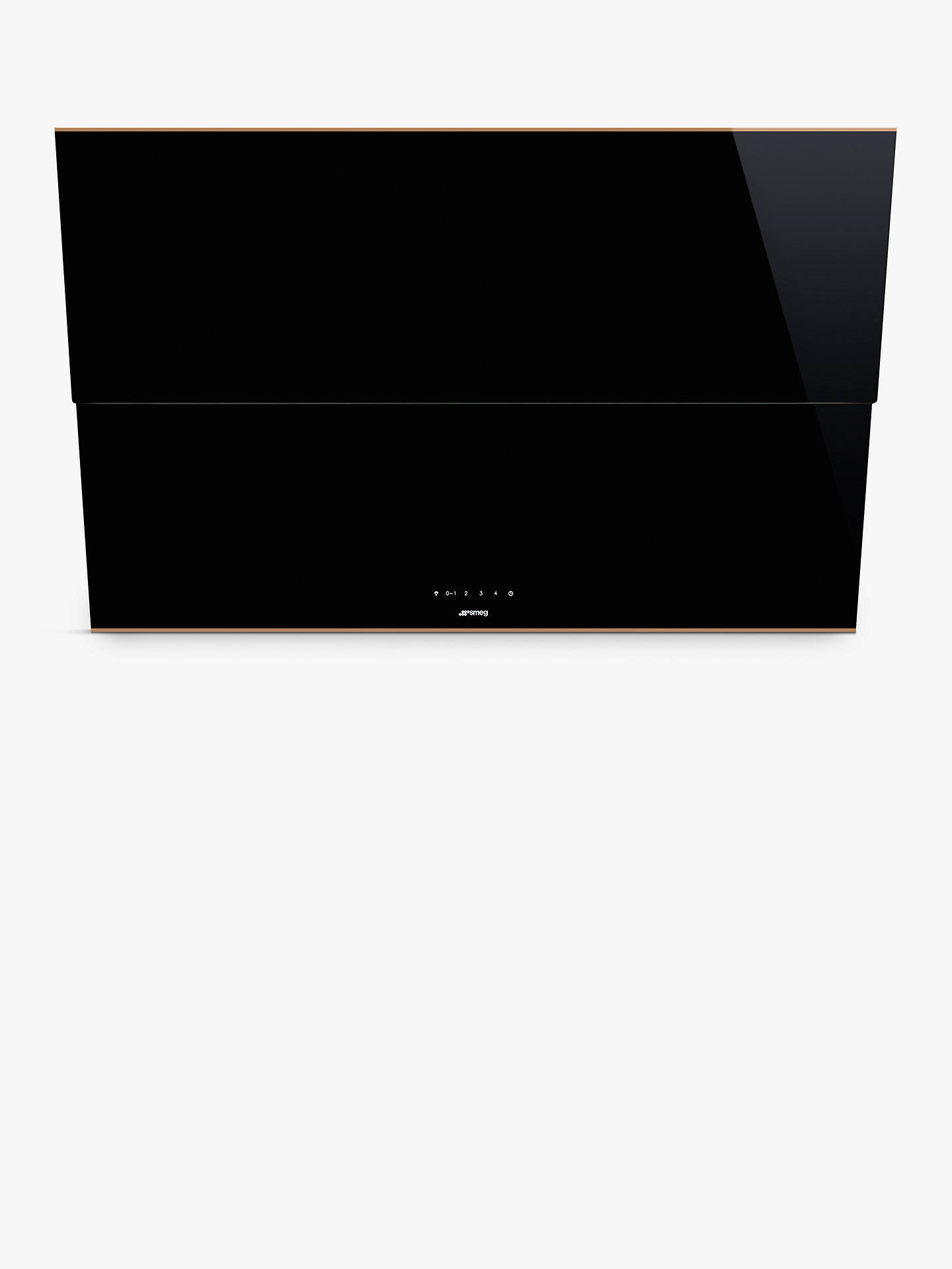 BuySmeg KSVV90NRA Dolce Stil Novo Chimney Cooker Hood, Black/Copper Online at johnlewis.com