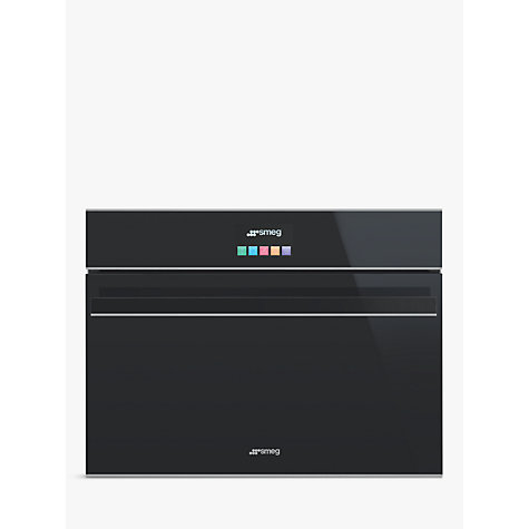Buy Smeg SF4604MCNX Dolce Stil Novo Integrated Combination Microwave, Black/Stainless Steel Online at johnlewis.com