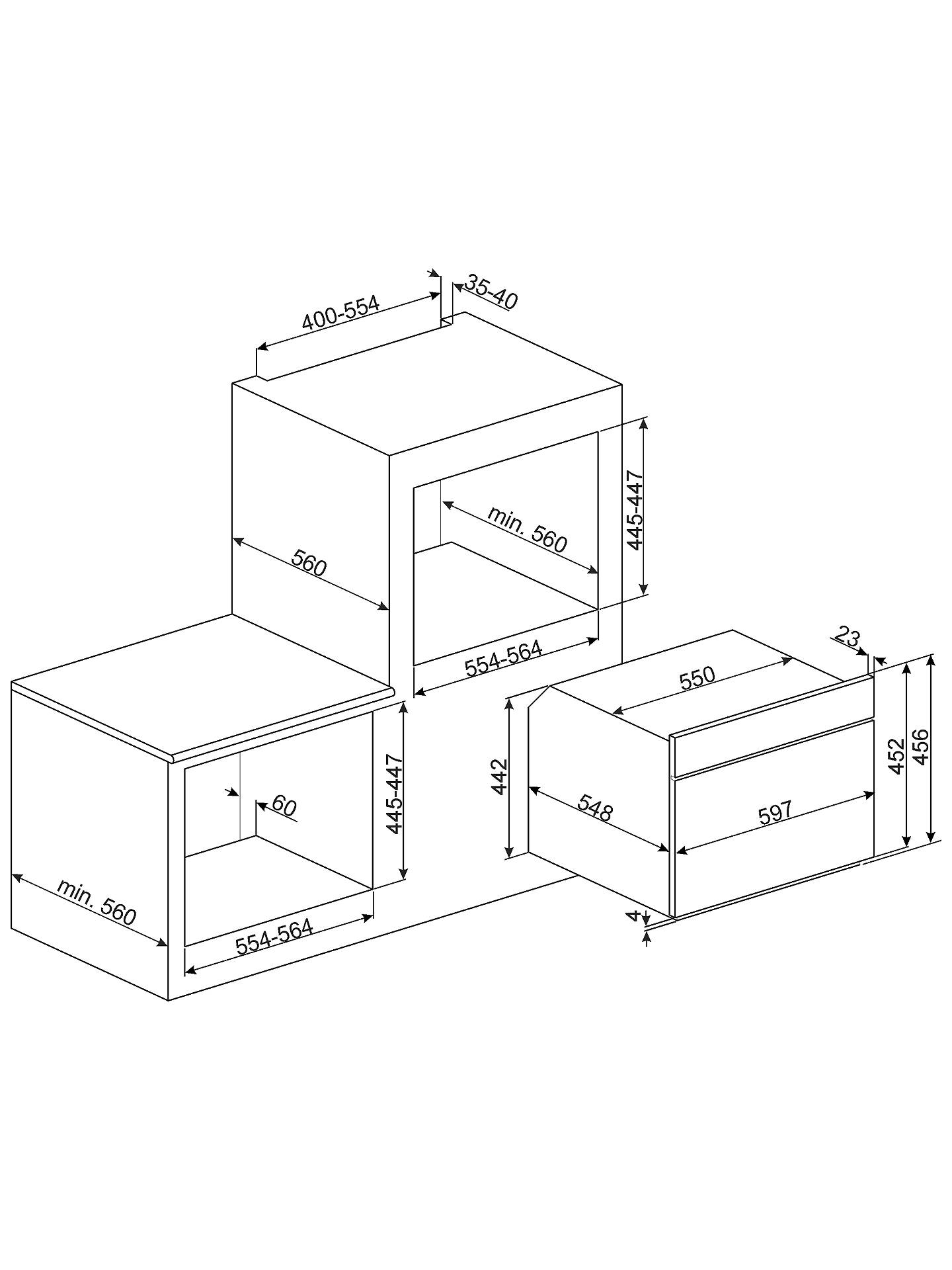 Smeg SF4603MCNR Dolce Stil Novo Integrated Combination