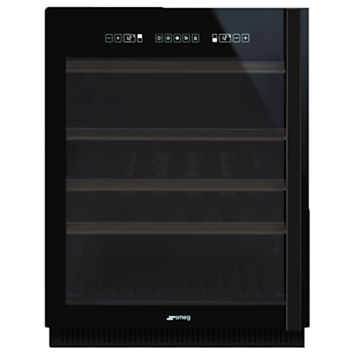 Smeg CVI638NS Dolce Stil Novo Wine Cooler with Lefthand Hinge, Black