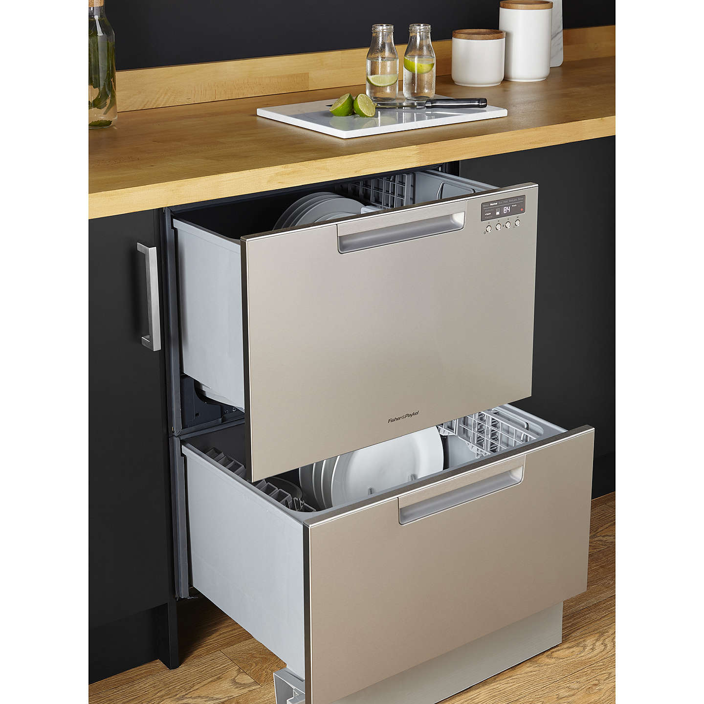 BuyFisher & Paykel DD60DCHX9 Double DishDrawer Built-In Dishwasher, Stainless Steel Online at johnlewis.com