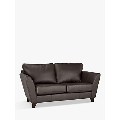 John Lewis Oslo Small 2 Seater Leather Sofa, Dark Leg