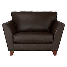 Buy John Lewis Oslo Leather Snuggler, Dark Leg Online at johnlewis.com