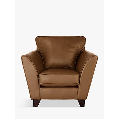 John Lewis Oslo Leather Armchair, Dark Leg