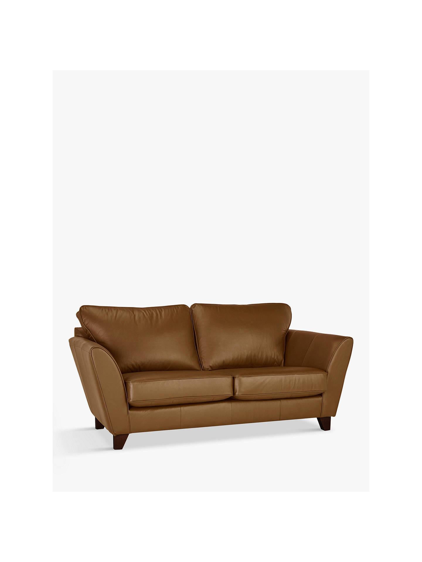 John Lewis Partners Oslo Small 2 Seater Leather Sofa Dark Leg Er Cucino