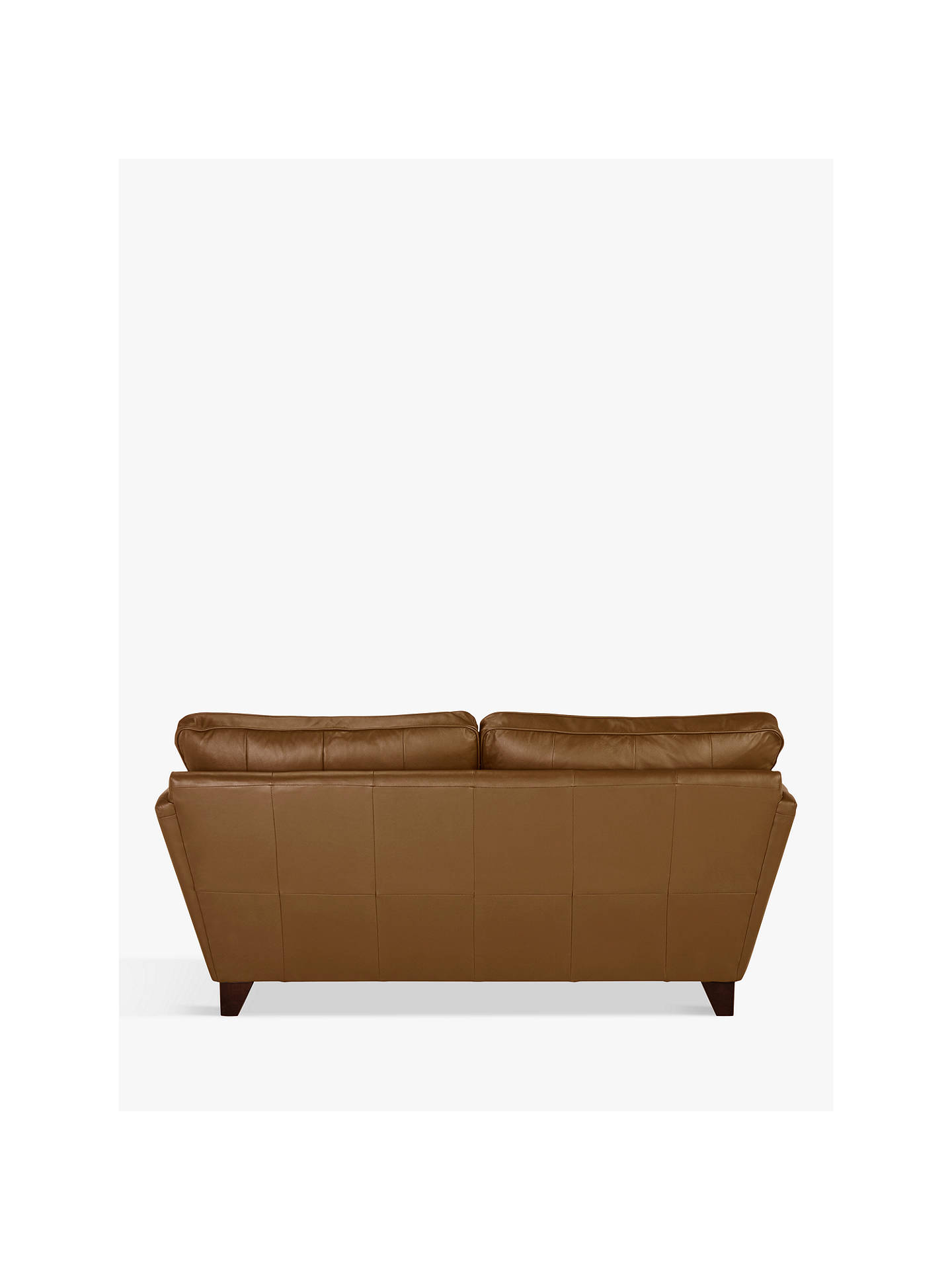 BuyJohn Lewis & Partners Oslo Small 2 Seater Leather Sofa, Dark Leg, Luster Cappucino Online at johnlewis.com