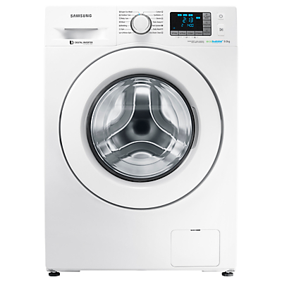 Samsung WF9EF5E3U4W/EU ecobubble™ Freestanding Washing Machine, 9kg Capacity, A+++ Energy Rating, 1400rpm Spin, White