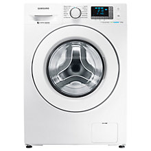 Buy Samsung WF9EF5E3U4W/EU ecobubble™ Freestanding Washing Machine, 9kg Capacity, A+++ Energy Rating, 1400rpm Spin, White Online at johnlewis.com