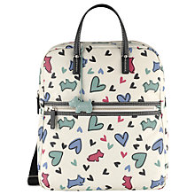 Buy Radley Love Me Love My Dog Backpack, Ivory Online at johnlewis.com