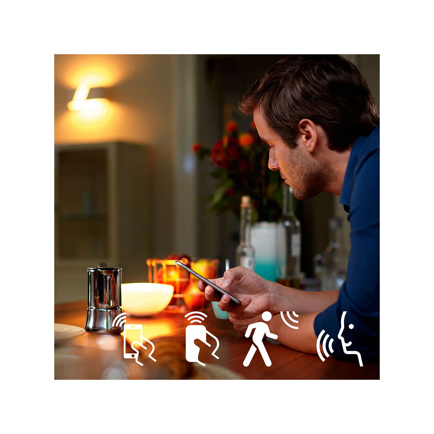 BuyPhilips Hue White Ambiance Wireless Lighting LED Light Bulb, 5.5W GU10 Bulb, Pack of 2 Online at johnlewis.com