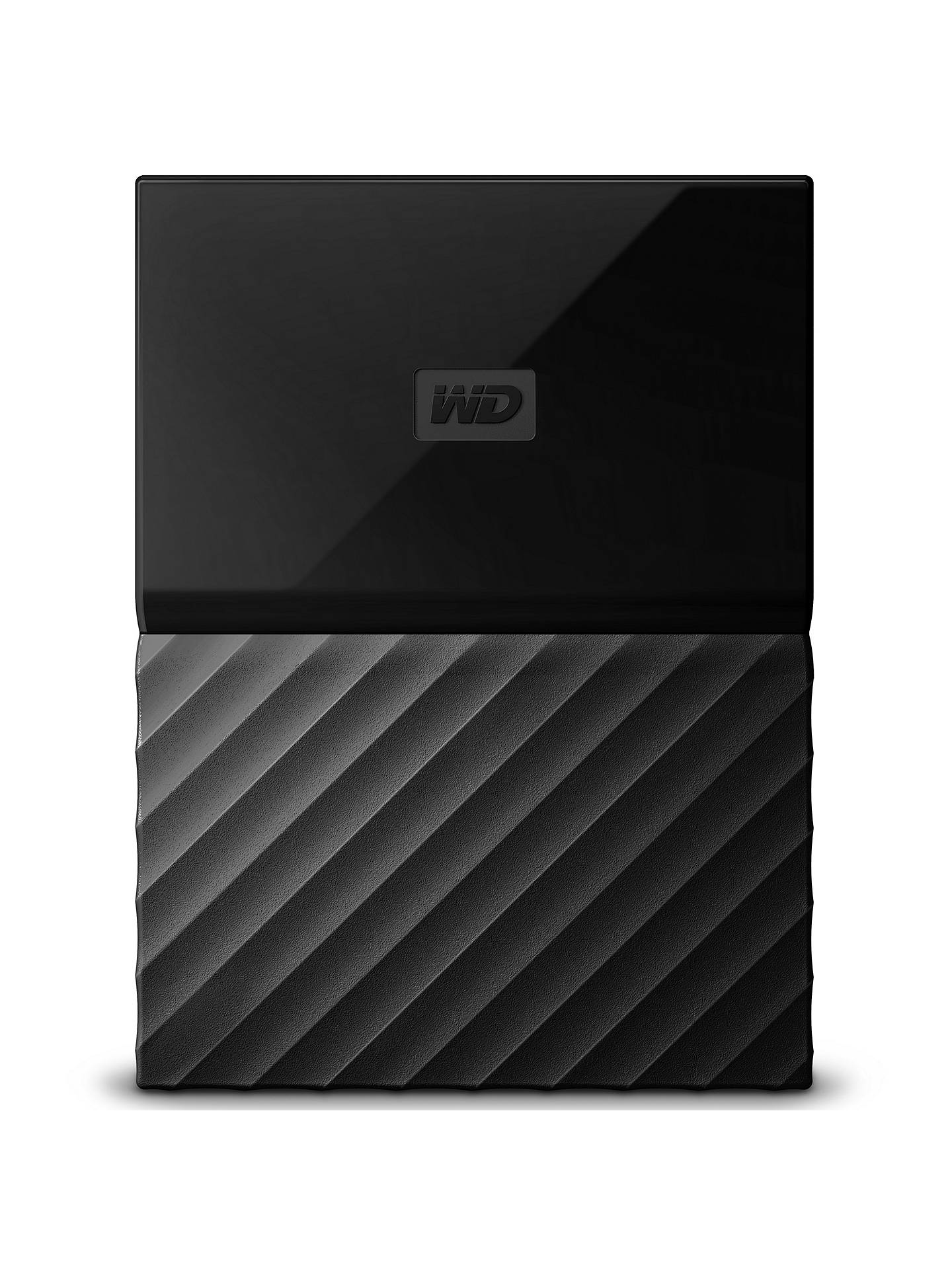 BuyWD My Passport Portable Hard Drive for Mac, 1TB, Black Online at johnlewis.com