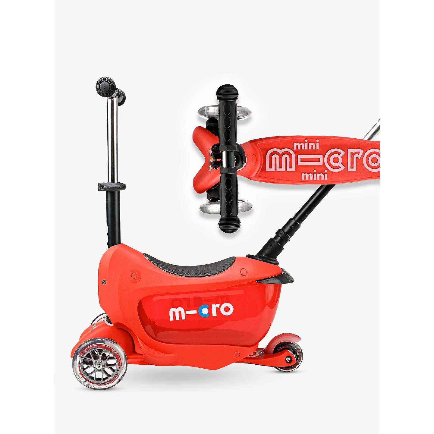 BuyMicro Mini 2 Go Deluxe Scooter, 3 - 5 years, Red Online at johnlewis.com