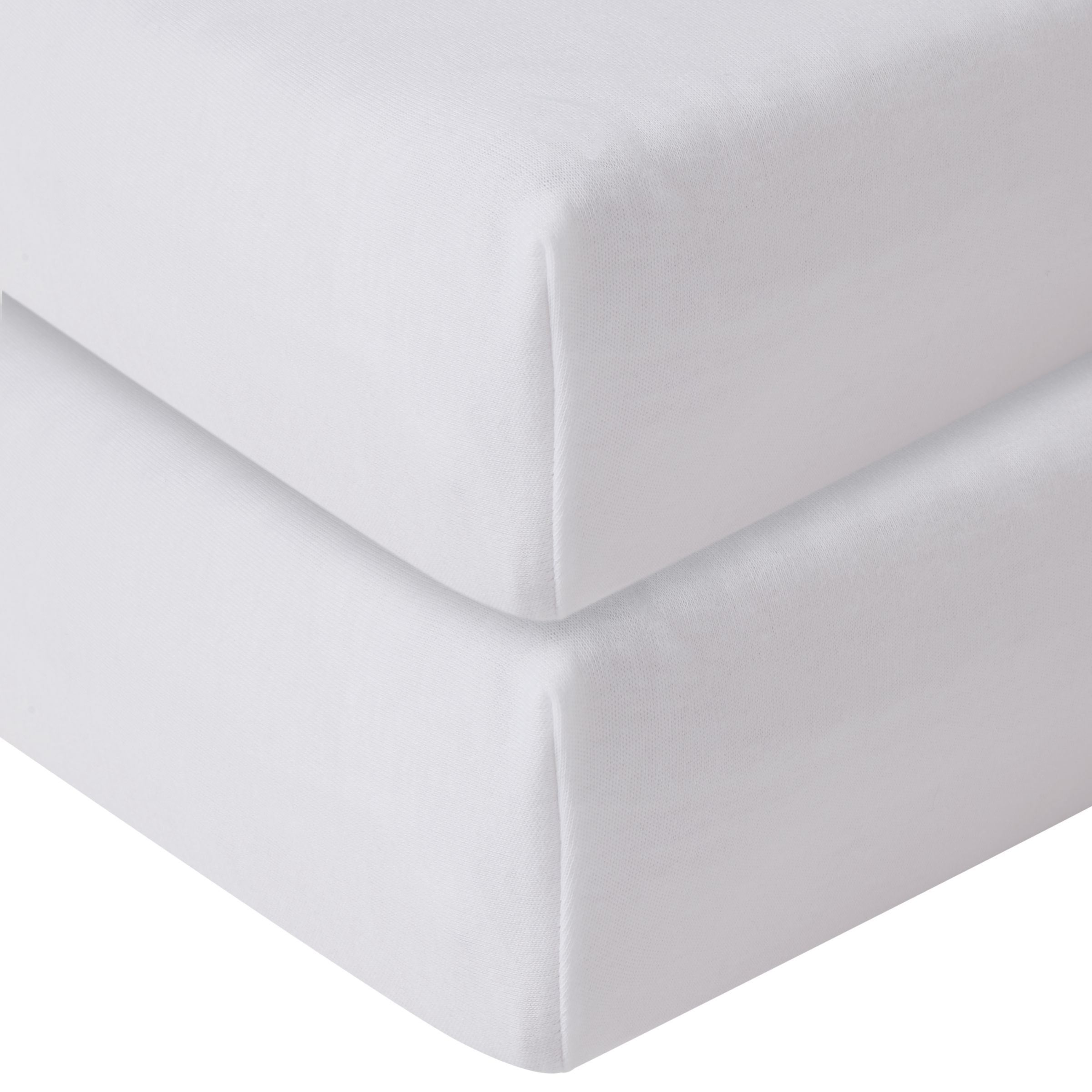 John Lewis & Partners GOTS Organic Cotton Fitted Cot Sheet, Pack of 2, 60 x 120