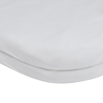 Product photo of John lewis gots organic cotton fitted pram sheet pack of 2 white