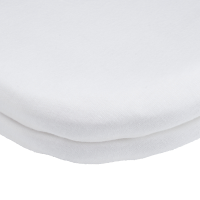 Product photo of John lewis gots organic cotton fitted pram crib sheet pack of 2 white