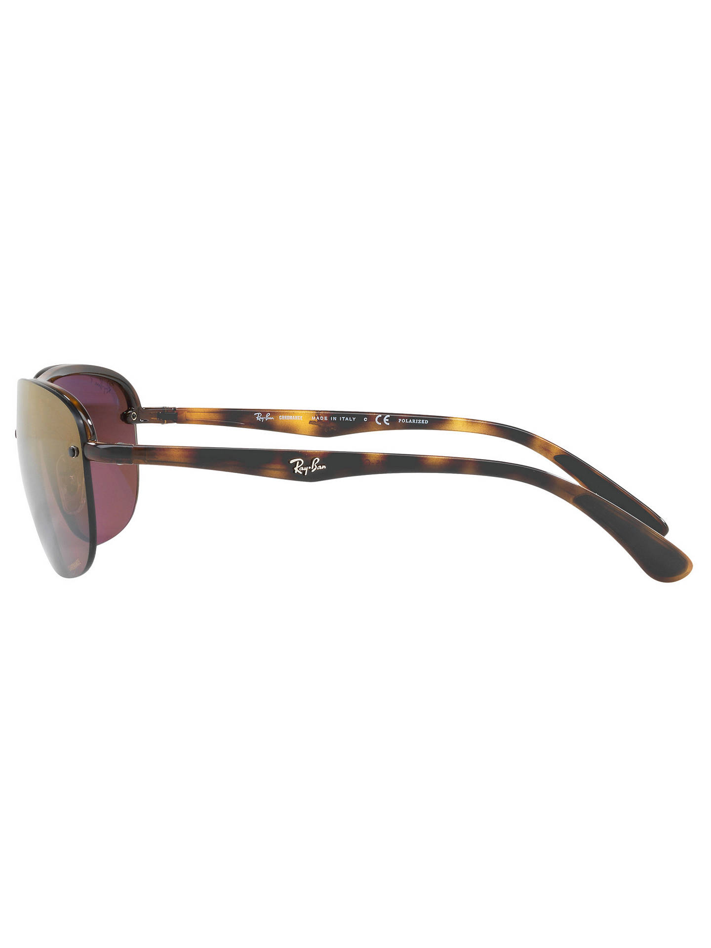 BuyRay-Ban RB4275CH Chromance Polarised Square Sunglasses, Tortoise/Mirror Purple Online at johnlewis.com