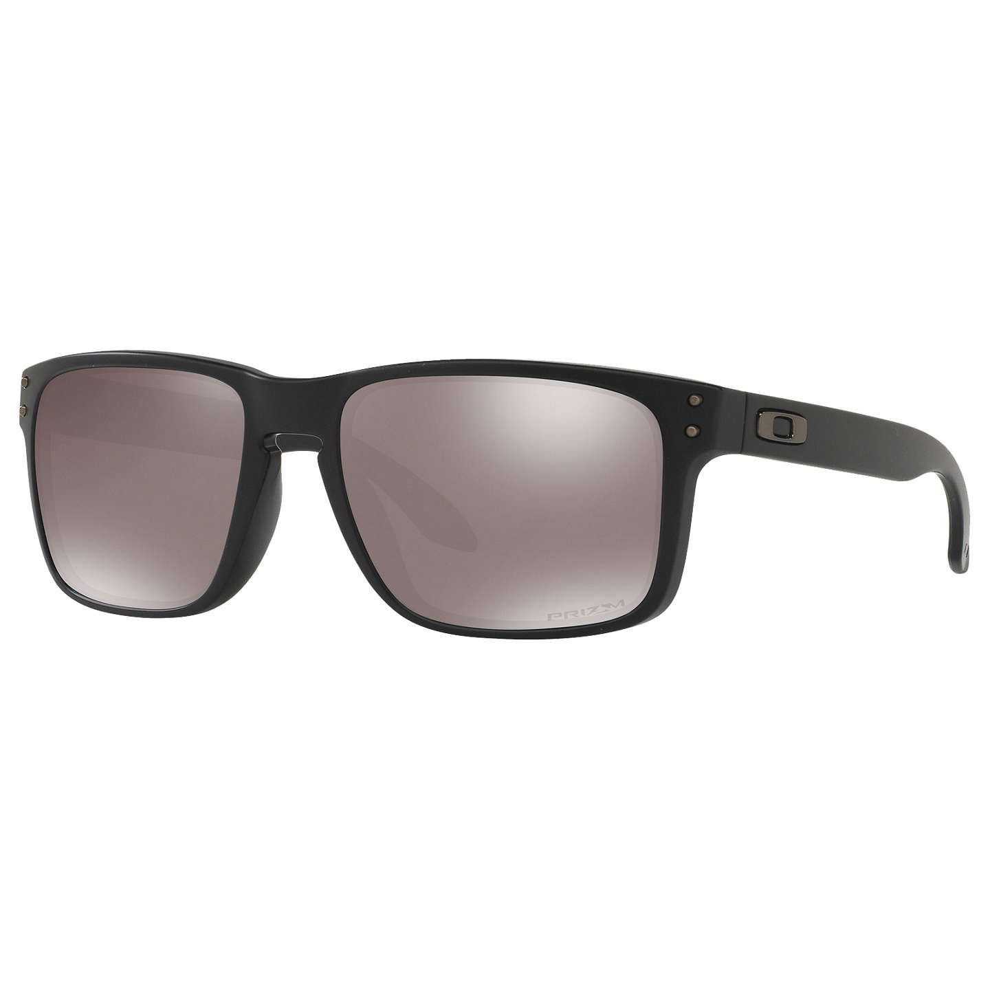 BuyOakley OO9102 Holbrook Prizm Polarised Square Sunglasses, Matte Black/Mirror Brown Online at johnlewis.com