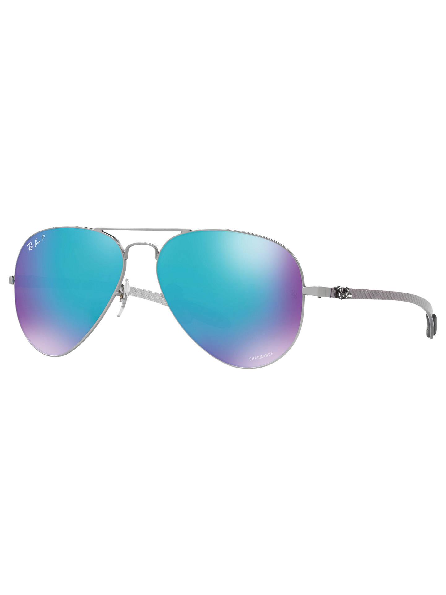 3be638847d9 Ray-Ban RB8317CH Chromance Polarised Aviator Sunglasses at John ...