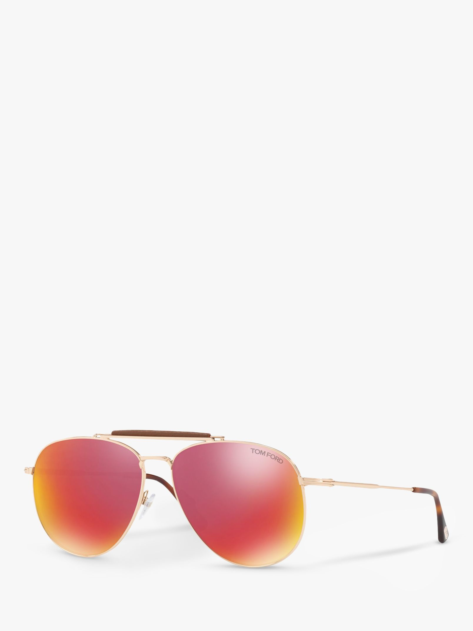 Tom Ford TOM FORD FT0536 Sean Aviator Sunglasses, Rose Gold/Mirror Pink