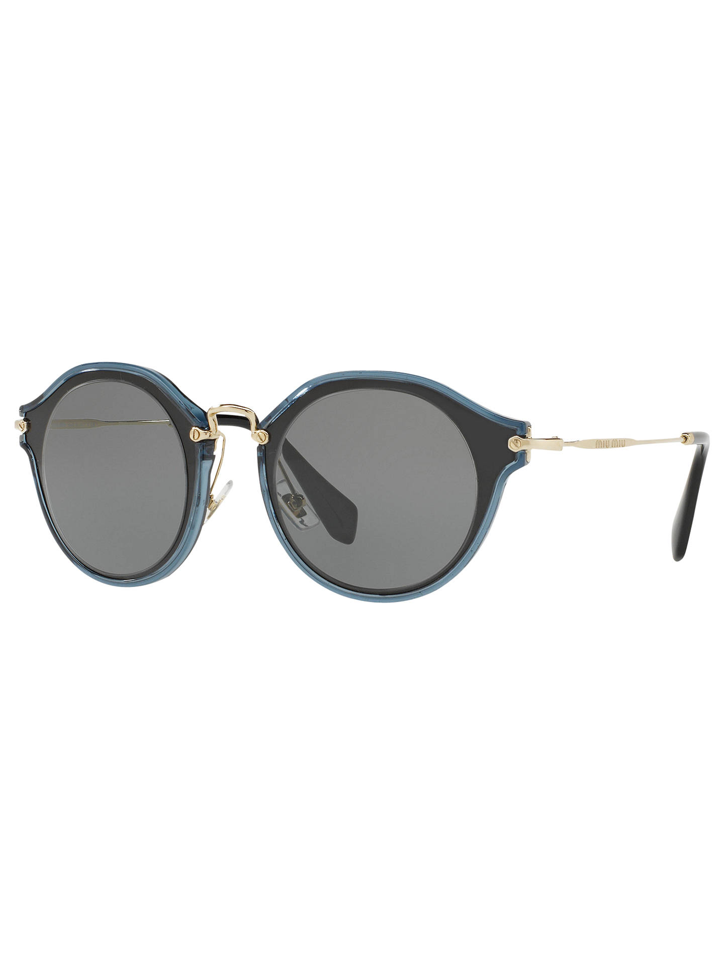 a508a28f2e Miu Miu MU 51SS Two Tone Frame Oval Sunglasses at John Lewis   Partners