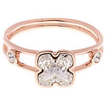 Buy Karen Millen Art Swarovski Crystal Flower Ring, Rose Gold Online at johnlewis.com