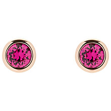 Buy Ted Baker Sinaa Swarovski Crystal Stud Earrings, Rose Gold/Fuchsia Online at johnlewis.com
