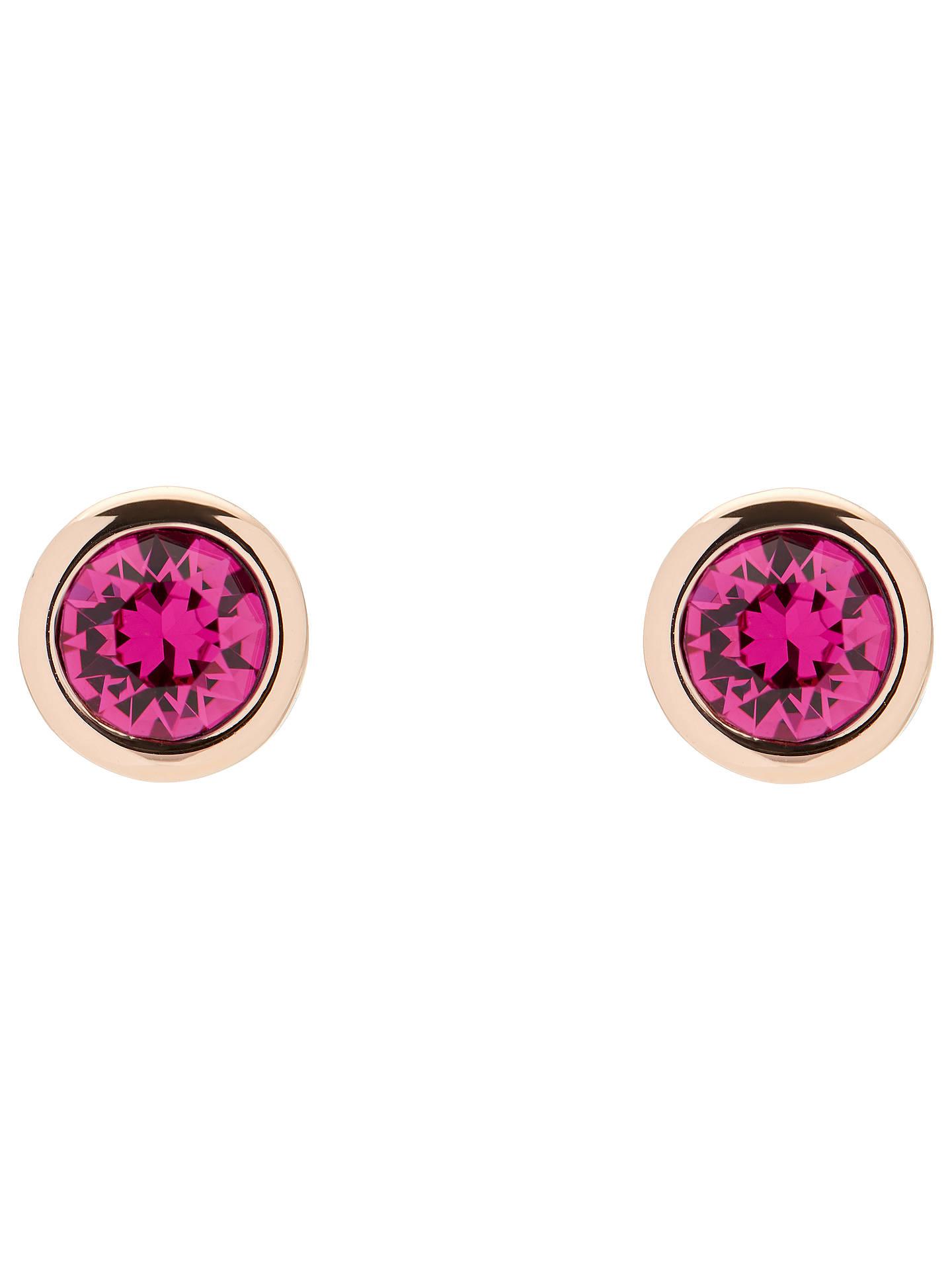 98fa00c4e Buy Ted Baker Sinaa Swarovski Crystal Stud Earrings, Rose Gold/Fuchsia  Online at johnlewis