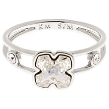 Buy Karen Millen Art Swarovski Crystal Flower Ring, Silver Online at johnlewis.com
