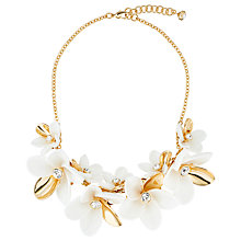 Buy Ted Baker Bao Large Blossom Statement Necklace, Gold/White Online at johnlewis.com