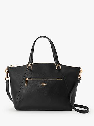 Coach Prairie Pebble Leather Satchel Bag