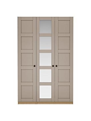 House By John Lewis Mix It Tall Wooden 5 Panel Triple Wardrobe Matt