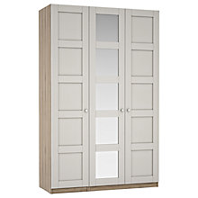 Buy House by John Lewis Mix it Chrome Knob 5 Panel Triple Wardrobe, Matt Smoke/Grey Ash Online at johnlewis.com