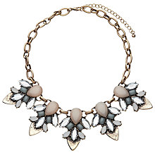 Buy John Lewis Glass Crystal Fashion Statement Necklace, Blush/Duck Egg Online at johnlewis.com