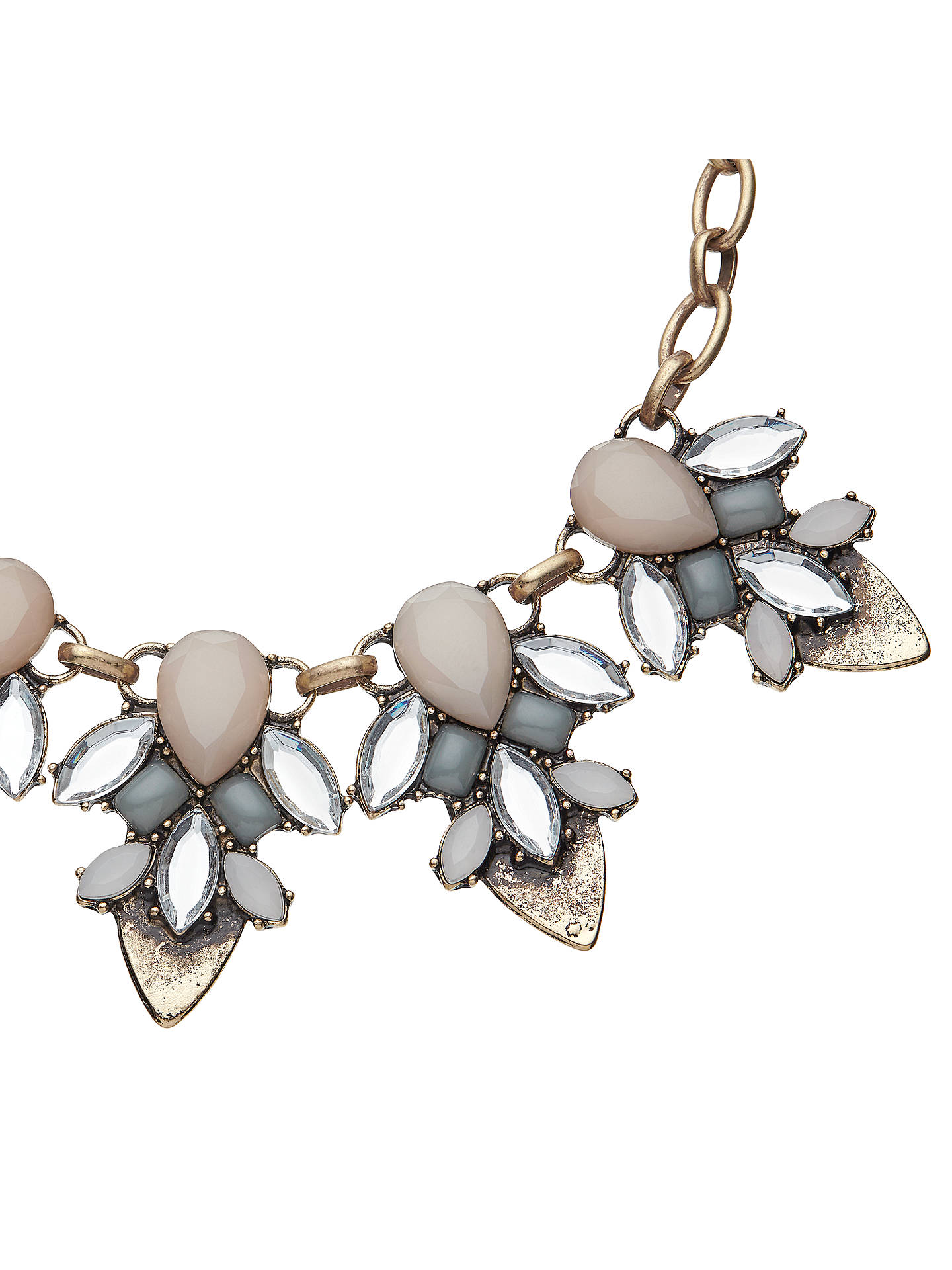 BuyJohn Lewis Glass Crystal Fashion Statement Necklace, Blush/Duck Egg Online at johnlewis.com